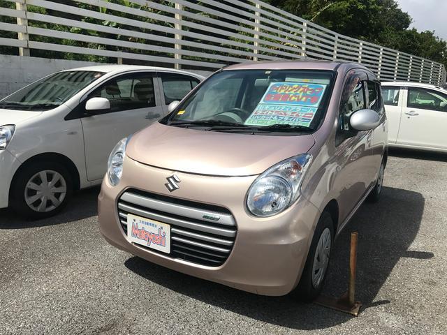 沖縄の中古車 スズキ アルトエコ 車両価格 58万円 リ済込 平成26年 5.8万km シャンパンピンクM