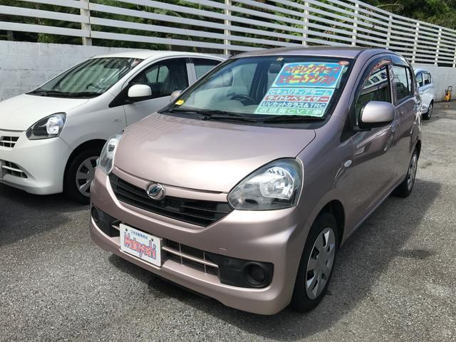沖縄の中古車 ダイハツ ミライース 車両価格 58万円 リ済込 平成26年 5.4万km ピンク
