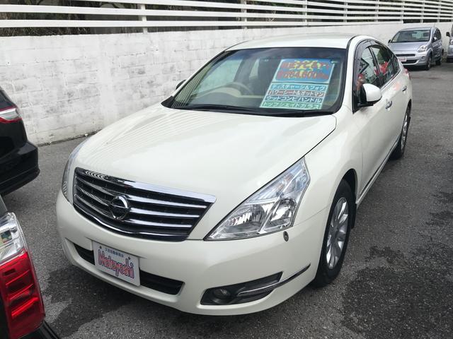 沖縄の中古車 日産 ティアナ 車両価格 69万円 リ済込 平成21年 6.5万km ホワイトパール