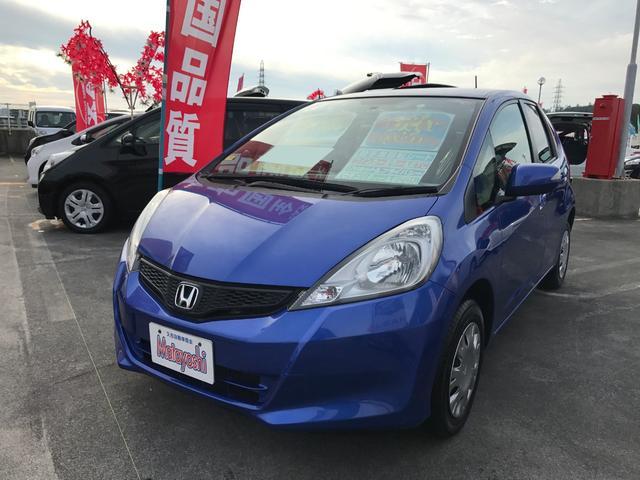 沖縄の中古車 ホンダ フィット 車両価格 74万円 リ済込 平成23年 3.4万km ブルー