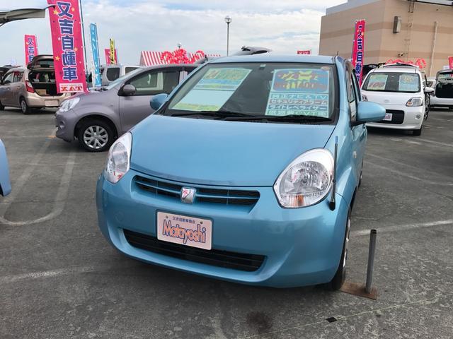 沖縄の中古車 トヨタ パッソ 車両価格 53万円 リ済込 平成24年 1.1万km ライトブルー