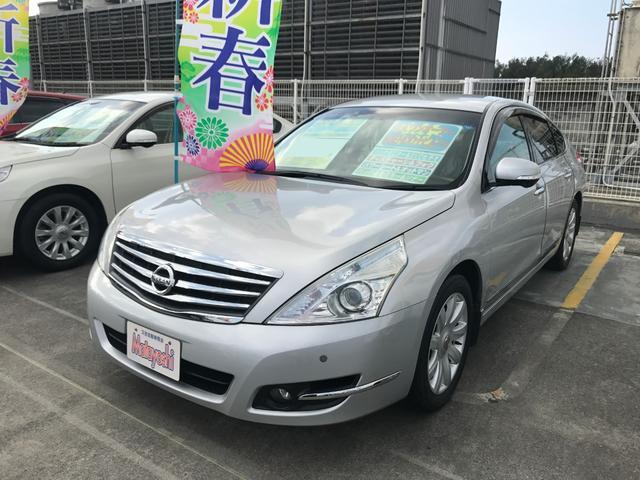 沖縄の中古車 日産 ティアナ 車両価格 65万円 リ済込 平成23年 9.8万km シルバー