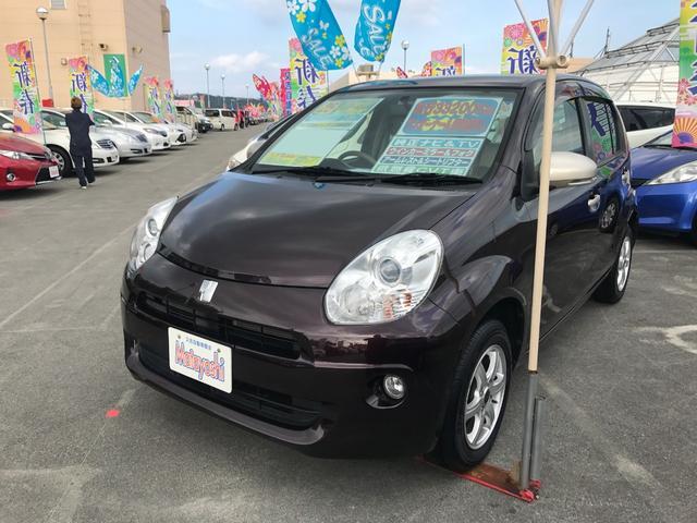 沖縄の中古車 トヨタ パッソ 車両価格 68万円 リ済込 平成25年 3.3万km アズキマイカ