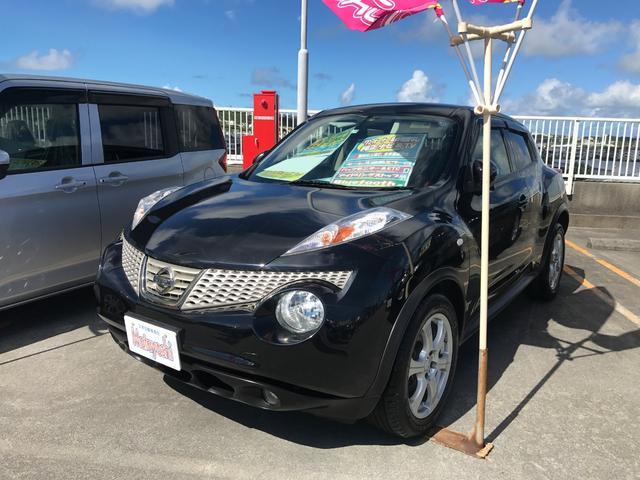 沖縄の中古車 日産 ジューク 車両価格 93万円 リ済込 2013(平成25)年 7.0万km ブラック