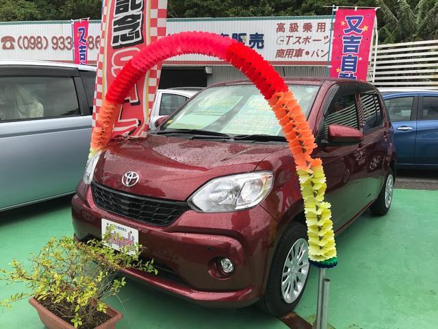 沖縄の中古車 トヨタ パッソ 車両価格 88万円 リ済込 2016(平成28)年 1.5万km ファイアークォーツレッドメタリック