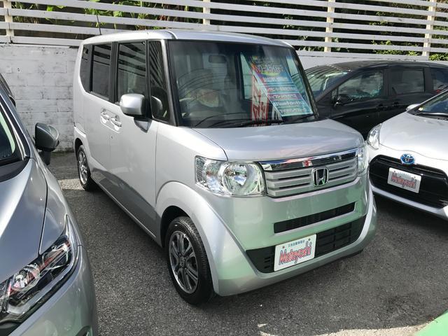 沖縄の中古車 ホンダ N-BOX 車両価格 84万円 リ済込 2014(平成26)年 7.8万km シルバー