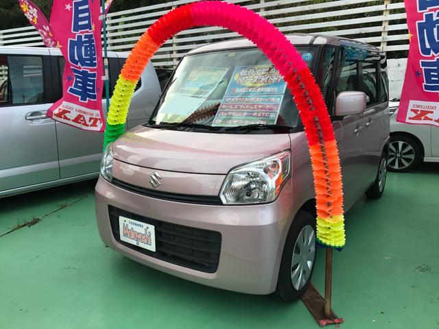 沖縄の中古車 スズキ スペーシア 車両価格 73万円 リ済込 2014(平成26)年 6.3万km ピンク