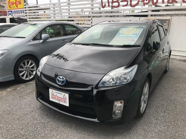 沖縄の中古車 トヨタ プリウス 車両価格 103万円 リ済込 2011(平成23)年 6.7万km ブラック