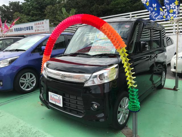 沖縄の中古車 スズキ スペーシアカスタム 車両価格 84万円 リ済込 2013(平成25)年 6.6万km ブラック