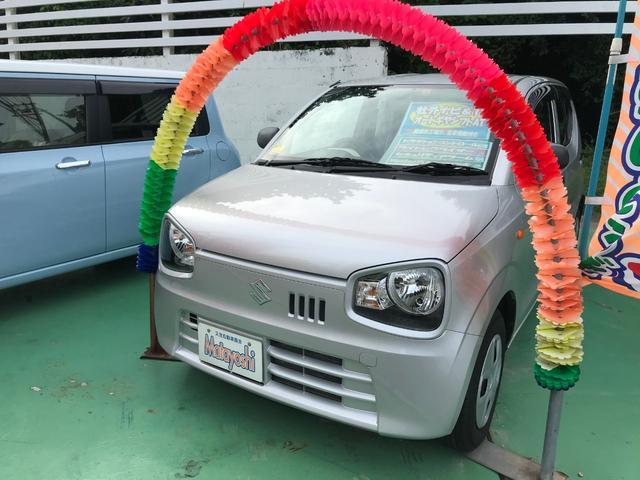 沖縄の中古車 スズキ アルト 車両価格 49万円 リ済込 2015(平成27)年 6.6万km シルバー