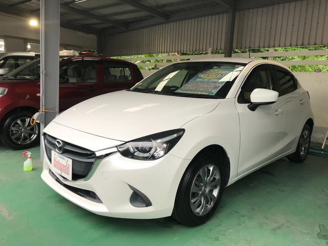 沖縄の中古車 マツダ デミオ 車両価格 88万円 リ済込 2015(平成27)年 7.7万km パール