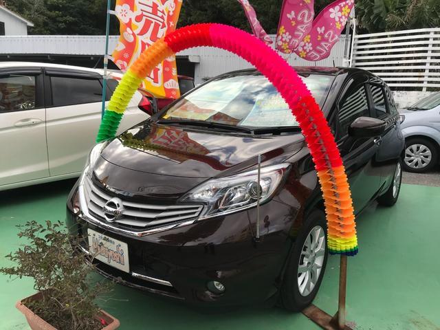 沖縄の中古車 日産 ノート 車両価格 85万円 リ済込 2016(平成28)年 1.6万km インペリアルアンバーP