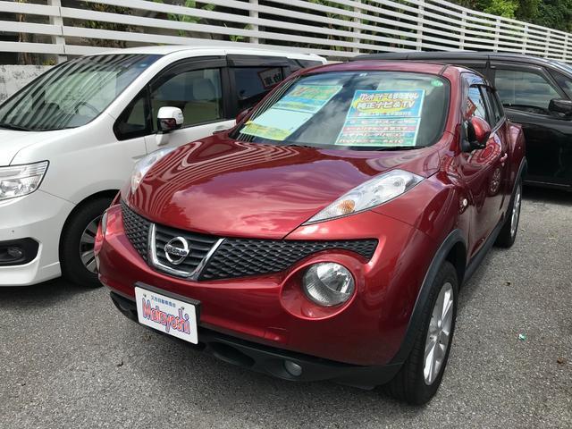 沖縄の中古車 日産 ジューク 車両価格 88万円 リ済込 2012(平成24)年 5.8万km ラディアントレッドPM