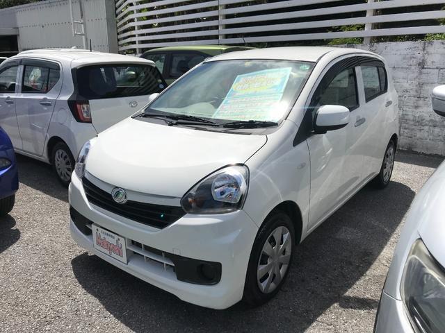 沖縄の中古車 ダイハツ ミライース 車両価格 54万円 リ済込 2017(平成29)年 4.2万km ホワイト
