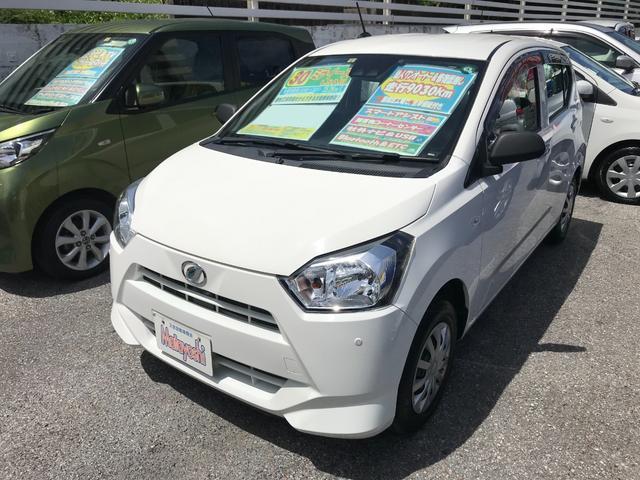 沖縄の中古車 ダイハツ ミライース 車両価格 74万円 リ済込 2018(平成30)年 0.9万km ホワイト