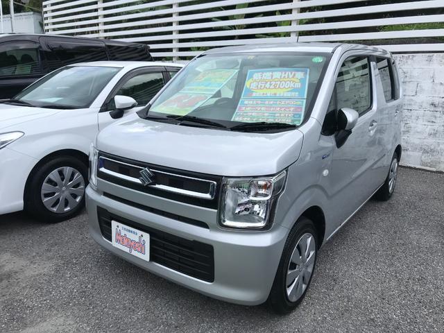 沖縄県沖縄市の中古車ならワゴンR ハイブリッドFX 社外ナビ バックモニター スポーツモードスイッチ