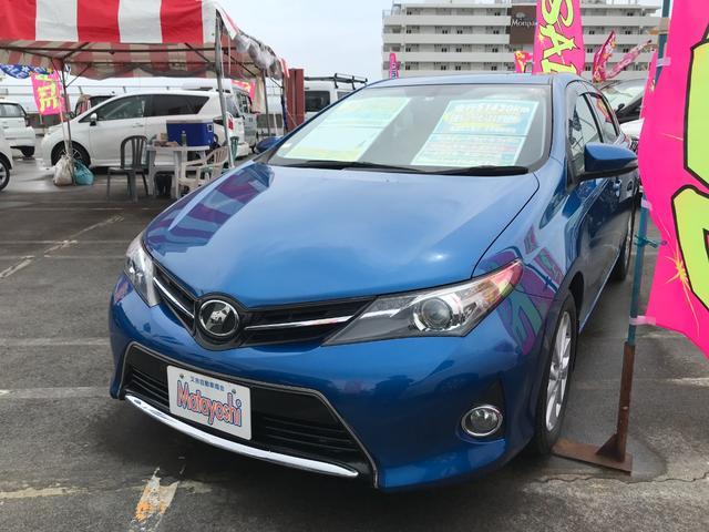 沖縄の中古車 トヨタ オーリス 車両価格 98万円 リ済込 2013(平成25)年 5.1万km ブルー