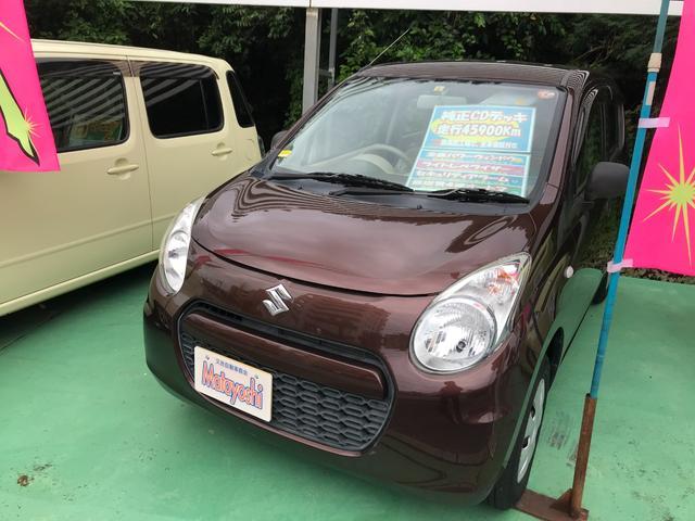 沖縄の中古車 スズキ アルト 車両価格 46万円 リ済込 2013(平成25)年 4.6万km ブラウン