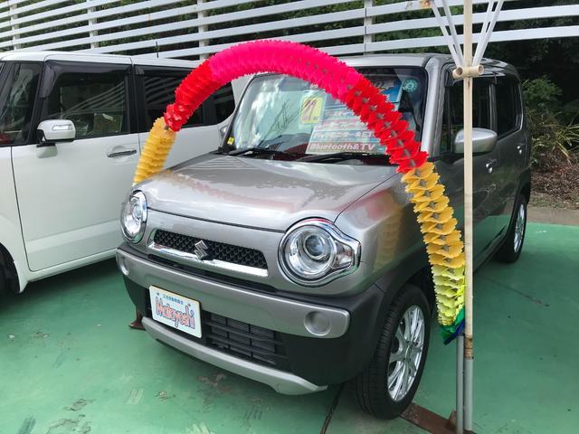 沖縄県の中古車ならハスラー Gターボ ワンセグナビ ブルートゥース アイドリングストップ バックモニター