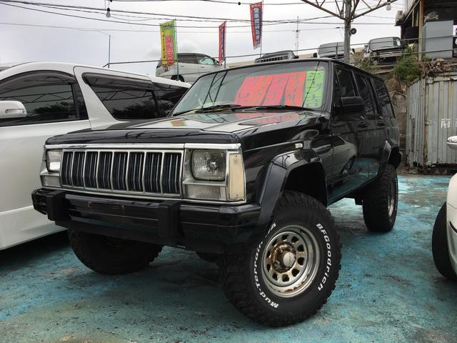沖縄の中古車 クライスラー・ジープ クライスラージープ チェロキー 車両価格 ASK リ済込 1997年 13.9万km ブラック