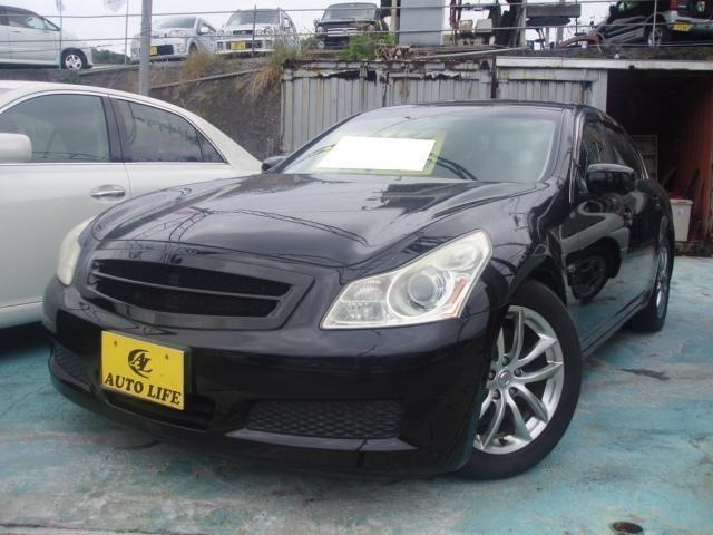 沖縄の中古車 日産 スカイライン 車両価格 39万円 リ済込 平成19年 14.5万km ブラック