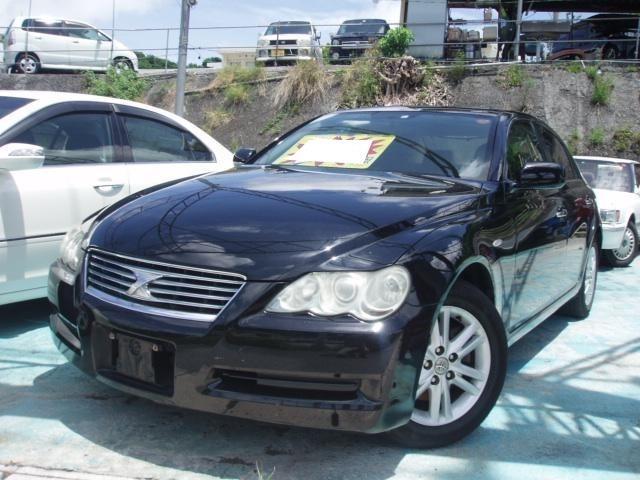 沖縄の中古車 トヨタ マークX 車両価格 29万円 リ済込 平成18年 14.7万km ブラック