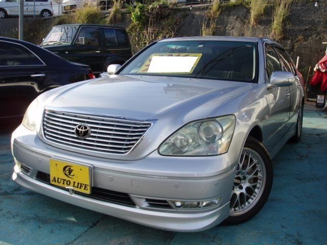 沖縄の中古車 トヨタ セルシオ 車両価格 29万円 リ済込 平成16年 21.8万km シルバー