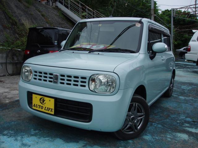 沖縄の中古車 スズキ アルトラパン 車両価格 35万円 リ済込 2010(平成22)年 11.4万km ライトブルー