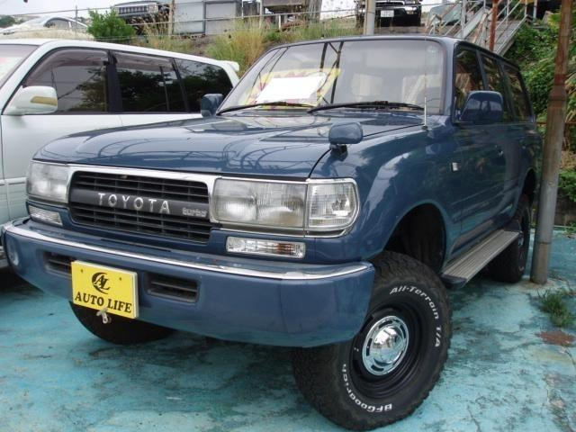 沖縄の中古車 トヨタ ランドクルーザー80 車両価格 109万円 リ済込 1992(平成4)年 20.7万km ブルー