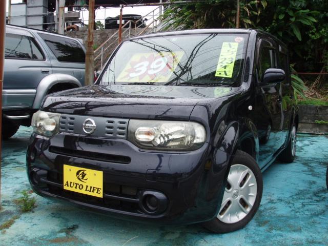 沖縄の中古車 日産 キューブ 車両価格 39万円 リ済込 2011(平成23)年 9.7万km ブラック
