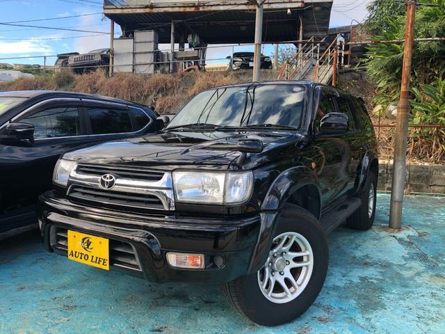 沖縄の中古車 トヨタ ハイラックスサーフ 車両価格 89万円 リ済込 2002(平成14)年 18.5万km ブラック