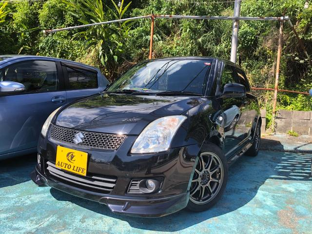 沖縄の中古車 スズキ スイフト 車両価格 29万円 リ済込 2010(平成22)年 7.3万km ブラック