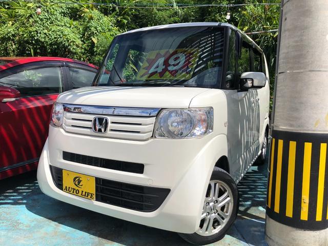 沖縄の中古車 ホンダ N-BOX 車両価格 49万円 リ済込 2012(平成24)年 10.6万km パールホワイト