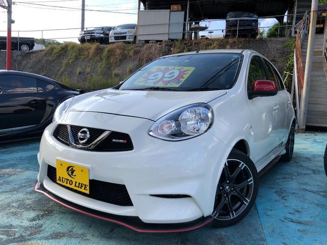 沖縄の中古車 日産 マーチ 車両価格 99万円 リ済込 2016(平成28)年 7.4万km パールホワイト