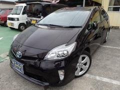 沖縄の中古車 トヨタ プリウス 車両価格 145万円 リ済込 平成26年 4.3万K ボルドーマイカ