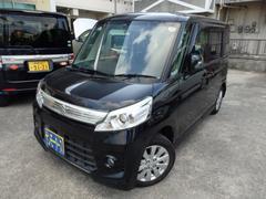沖縄の中古車 スズキ スペーシアカスタム 車両価格 88万円 リ済込 平成25年 5.2万K ブラックM