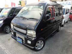 沖縄の中古車 スズキ エブリイワゴン 車両価格 32万円 リ済込 平成15年 11.9万K ブラックM