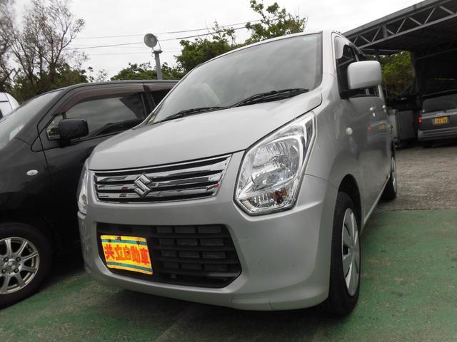沖縄の中古車 スズキ ワゴンR 車両価格 60万円 リ済込 平成25年 7.2万km シルバー