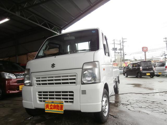 沖縄の中古車 スズキ キャリイトラック 車両価格 50万円 リ済込 平成25年 9.9万km ホワイト