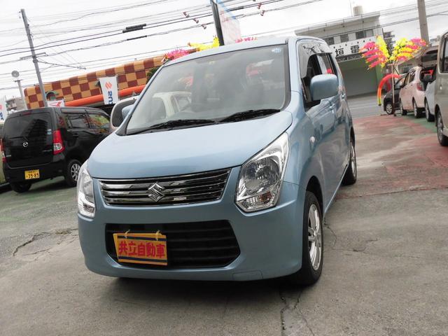 沖縄の中古車 スズキ ワゴンR 車両価格 55万円 リ済込 平成24年 8.0万km ライトブルーM