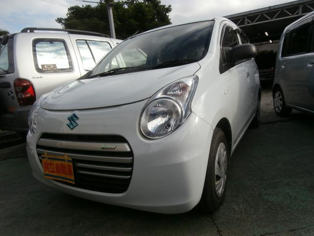 沖縄の中古車 スズキ アルトエコ 車両価格 40万円 リ済込 平成25年 5.7万km リーフホワイト