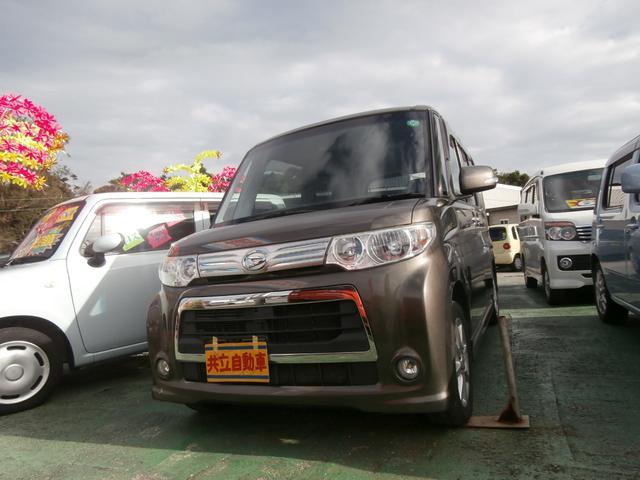 沖縄の中古車 ダイハツ タント 車両価格 60万円 リ済込 平成23年 9.7万km ブロンズオリーブパールメタリック