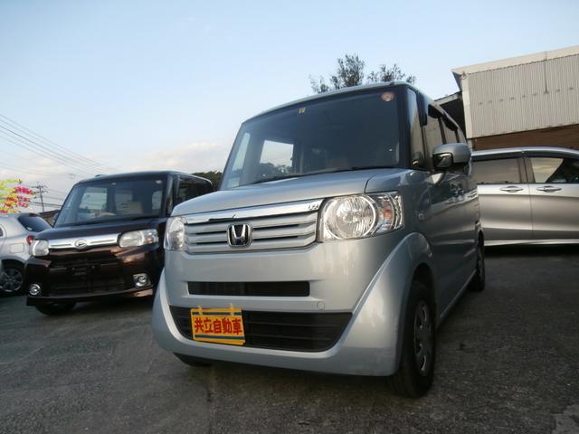 沖縄の中古車 ホンダ N-BOX 車両価格 65万円 リ済込 平成24年 9.2万km ライトブルーM