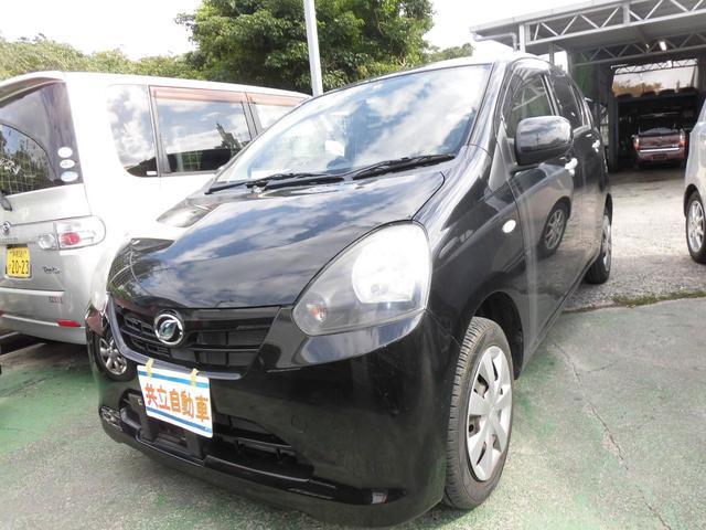 沖縄の中古車 ダイハツ ミライース 車両価格 43万円 リ済込 2012(平成24)年 7.7万km ブラック