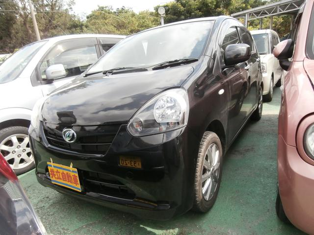 沖縄の中古車 ダイハツ ミライース 車両価格 45万円 リ済込 平成24年 8.8万km ブラック