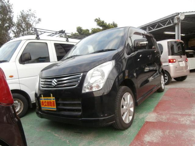 沖縄の中古車 スズキ ワゴンR 車両価格 53万円 リ済込 平成24年 7.3万km ブラック