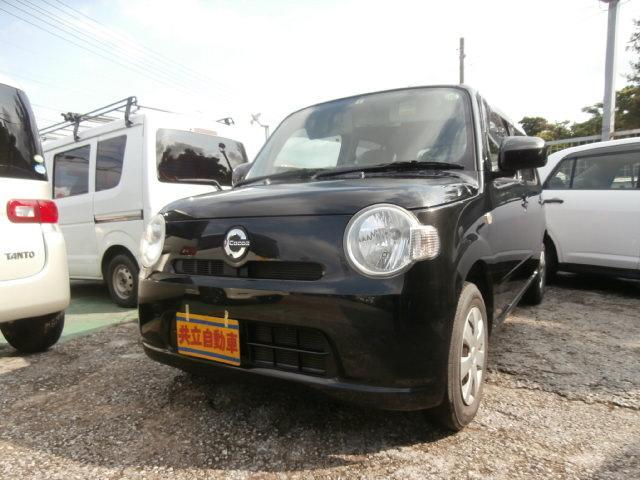 沖縄の中古車 ダイハツ ミラココア 車両価格 55万円 リ済込 2011(平成23)年 7.9万km ブラック