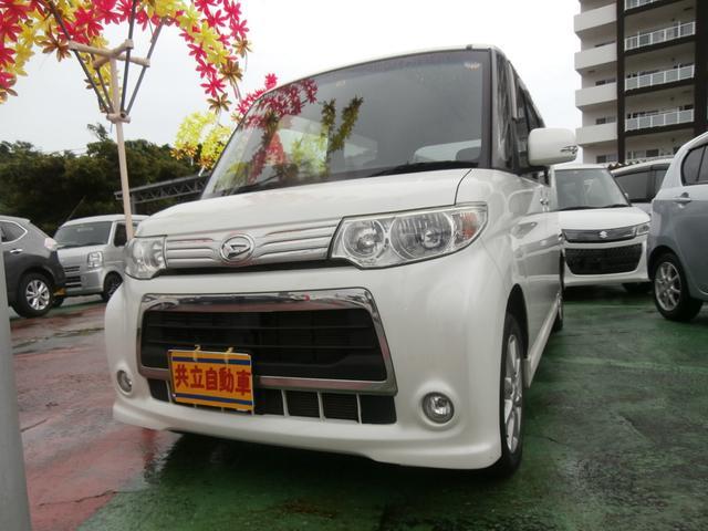 沖縄の中古車 ダイハツ タント 車両価格 55万円 リ済込 2010(平成22)年 7.6万km ホワイト