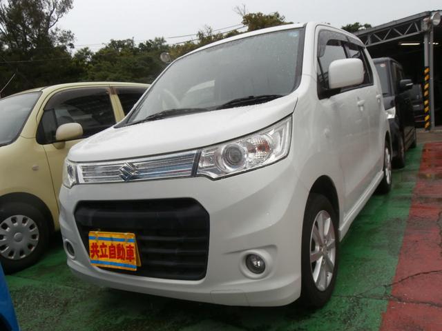 沖縄の中古車 スズキ ワゴンRスティングレー 車両価格 60万円 リ済込 2013(平成25)年 9.3万km パール