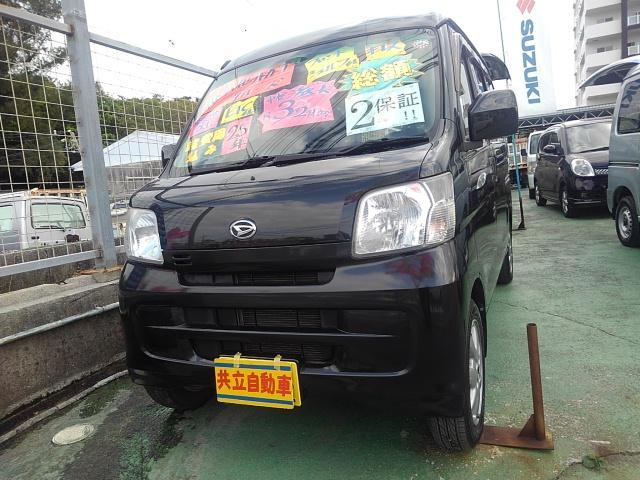 沖縄の中古車 ダイハツ ハイゼットカーゴ 車両価格 60万円 リ済込 2013(平成25)年 9.6万km ブラック